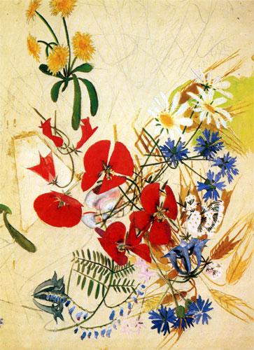 Вышивки полевые цветы полевые цветы