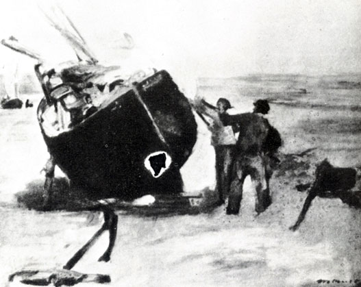 Гудронирование барки 1873
